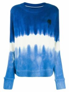 The Elder Statesman tie-dye jumper - Blue