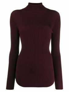 Pinko ribbed roll neck sweater - Brown