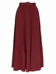 N Duo pleated maxi skirt - Red