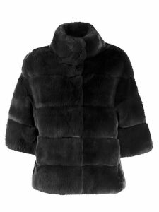 S.W.O.R.D 6.6.44 shearling button-up coat - Grey