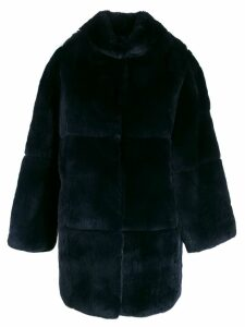 S.W.O.R.D 6.6.44 quilted button-up coat - Blue