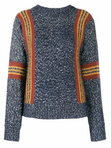 See By Chloé striped detail crewneck sweater - Blue