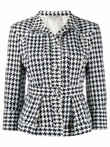 Alexander McQueen houndstooth patterned jacket - Blue