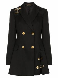 Versace safety-pin double-breasted blazer dress - Black