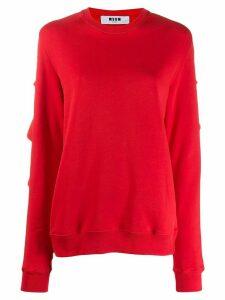 MSGM frill trim sweatshirt - Red