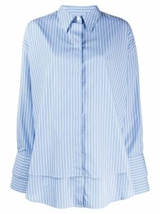 Rokh pinstripe boyfriend shirt - Blue