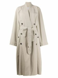 Balenciaga judo trench coat - NEUTRALS