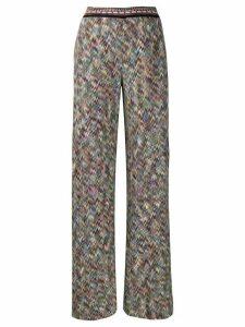 Missoni flared knit trousers - Blue