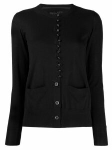 Sacai satin panel cardigan - Black