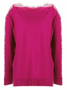 Twin-Set lace detail jumper - Pink