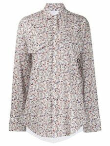 pushBUTTON floral print shirt - White