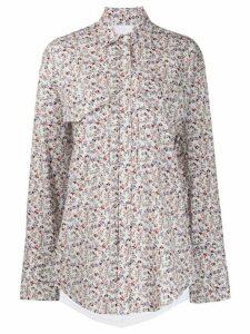 pushBUTTON floral print shirt - White