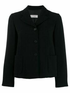 Alberto Biani cropped box blazer - Black