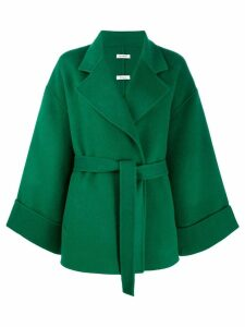 P.A.R.O.S.H. belted oversized jacket - Green