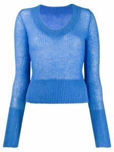 Jacquemus La maille Dao U-neck knitter sweater - Blue