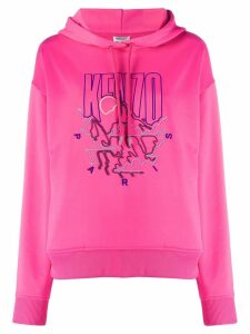 Kenzo embroidered logo hoodie - PINK