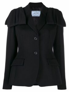 Prada flap detail blazer jacket - Black