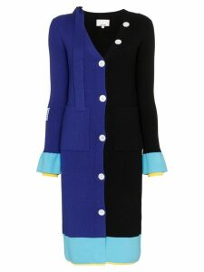 i-am-chen colour-block knitted cardigan - Black