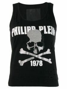 Philipp Plein Destroyed tank top - Black