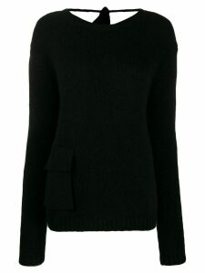 Rochas pocket detail jumper - Black