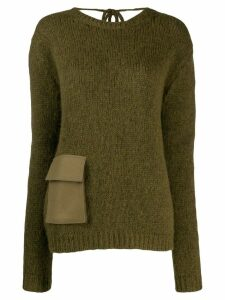 Rochas pocket detail jumper - Green