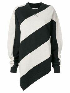 Marques'Almeida striped print sweatshirt - Neutrals