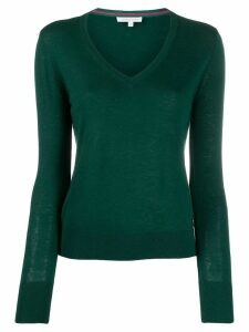 Patrizia Pepe relaxed-fit V-neck pullover - Green