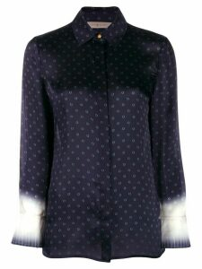 Tory Burch printed button down shirt - Blue