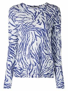 Proenza Schouler Zebra Long Sleeve T-Shirt - Blue