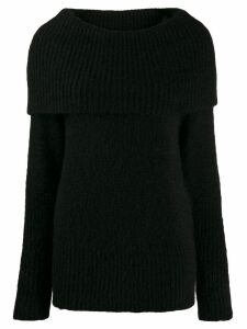 Emporio Armani maxi-knit wool jumper - Black