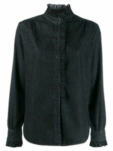 Dondup relaxed-fit ruffle shirt - Black