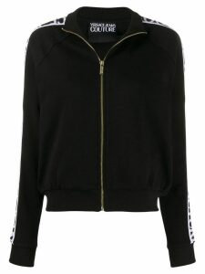 Versace Jeans Couture logo zip up sweatshirt - Black