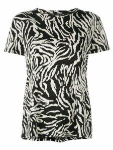Proenza Schouler Zebra Short Sleeve T-Shirt - Black