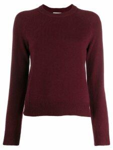 Ganni crew neck knitted jumper - Red