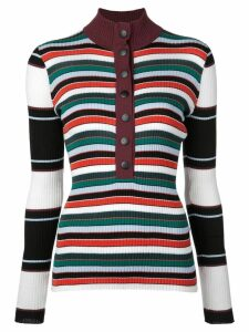 Proenza Schouler PSWL Rugby Striped Turtleneck Sweater - White