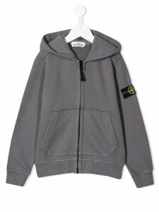 Stone Island Junior zipped hoodie - Grey