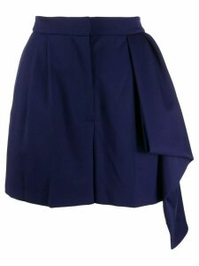 Alexander McQueen draped high-rise shorts - Blue