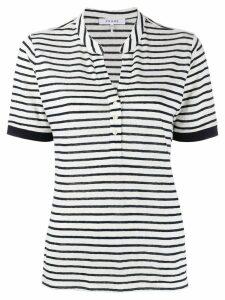 FRAME striped polo top - White
