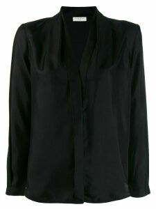 Sandro Paris long-sleeved V-neck blouse - Black