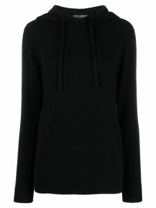Dolce & Gabbana drawstring hooded jumper - Black