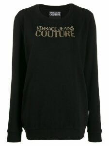 Versace Jeans Couture long logo jumper - Black
