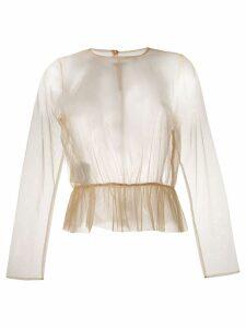 Comme Des Garçons Noir Kei Ninomiya tulle peplum blouse - NEUTRALS