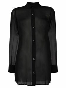 Philipp Plein georgette shirt - Black