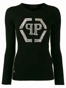 Philipp Plein crystal-embellished jumper - Black