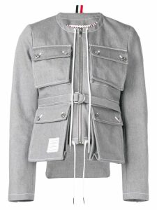 Thom Browne Hunting Cardigan Jacket - Grey