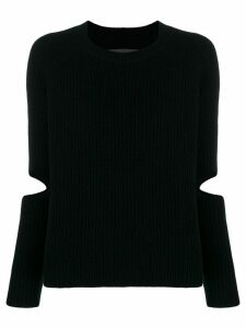 Zoe Jordan cut-out sleeve knit sweater - Black