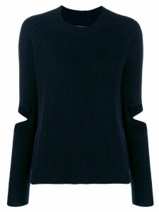 Zoe Jordan cut-out detail knit sweater - Blue