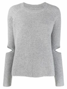 Zoe Jordan cut-out detail knit sweater - Grey