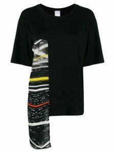 Ultràchic asymmetric graphic T-shirt - Black
