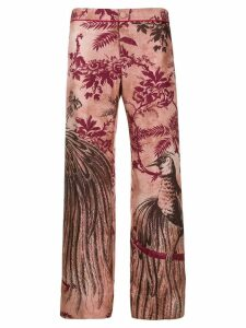 F.R.S For Restless Sleepers jacquard print trousers - PINK